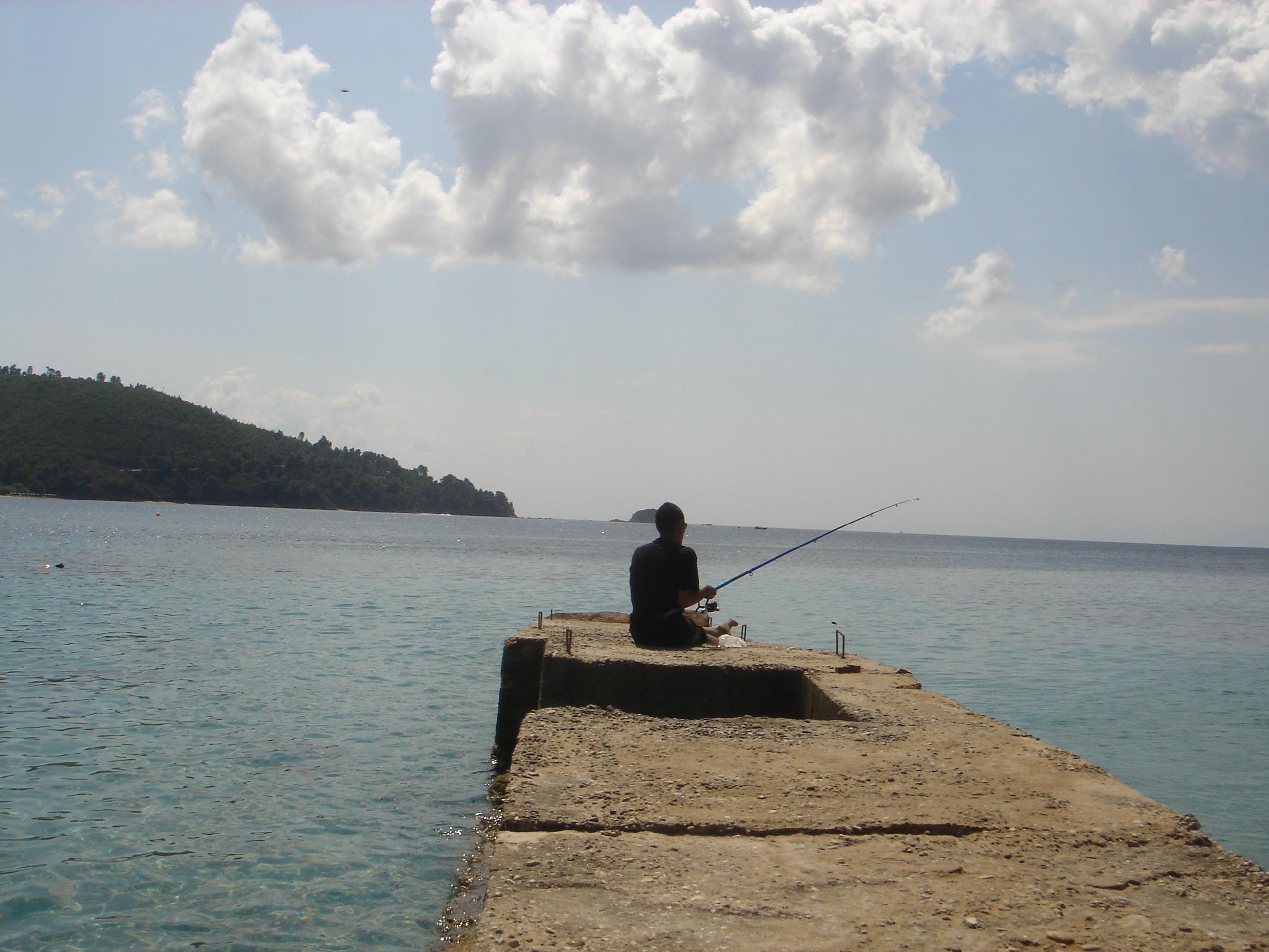 Fischer auf Skiathos